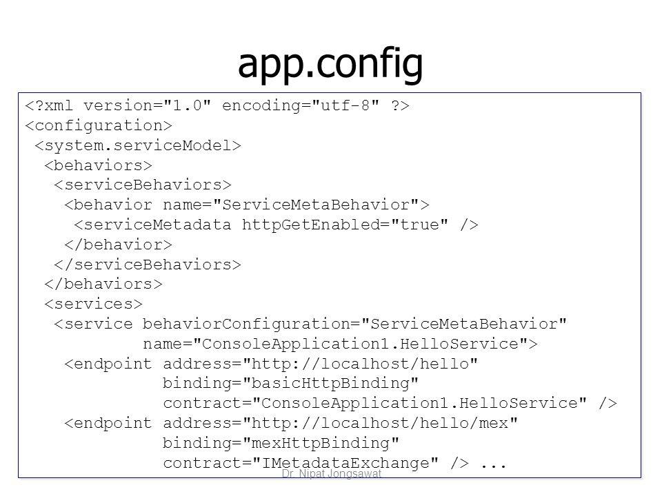 app.config <service behaviorConfiguration=