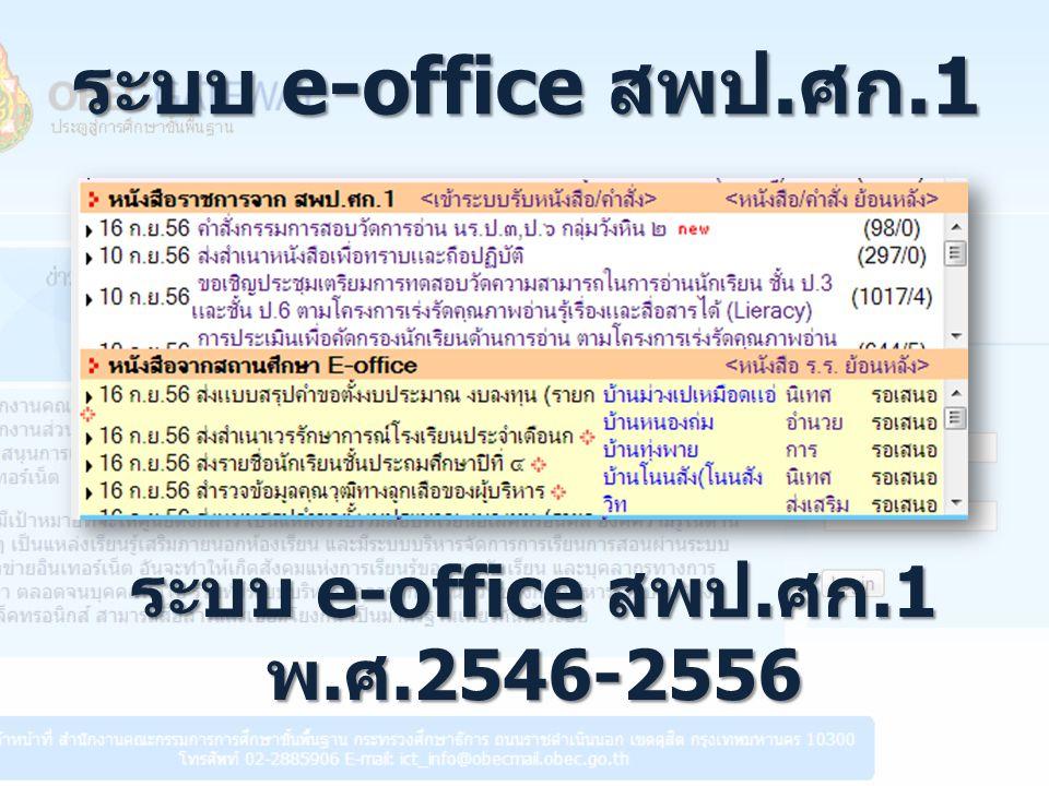 ระบบ e-office สพป.ศก.1 พ.ศ.2546-2556