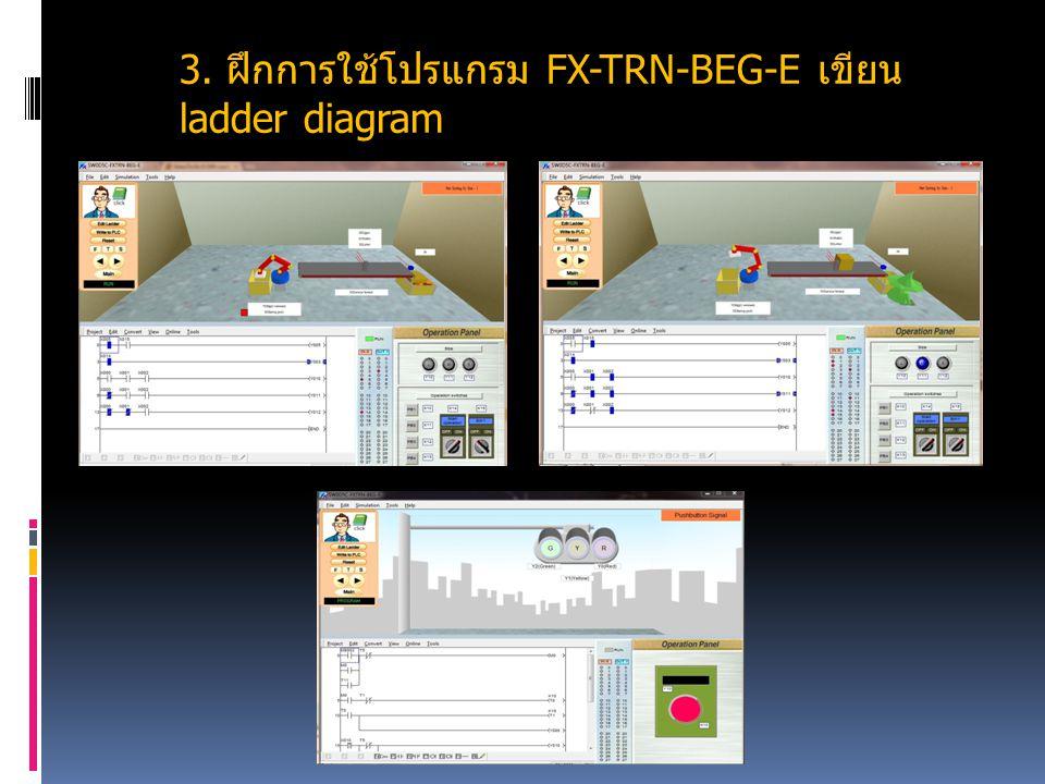3. ฝึกการใช้โปรแกรม FX-TRN-BEG-E เขียน ladder diagram