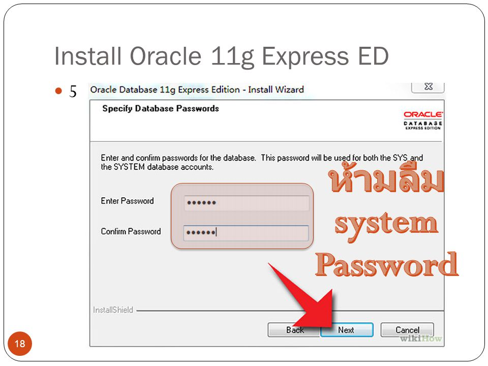 Install Oracle 11g Express ED 5 18