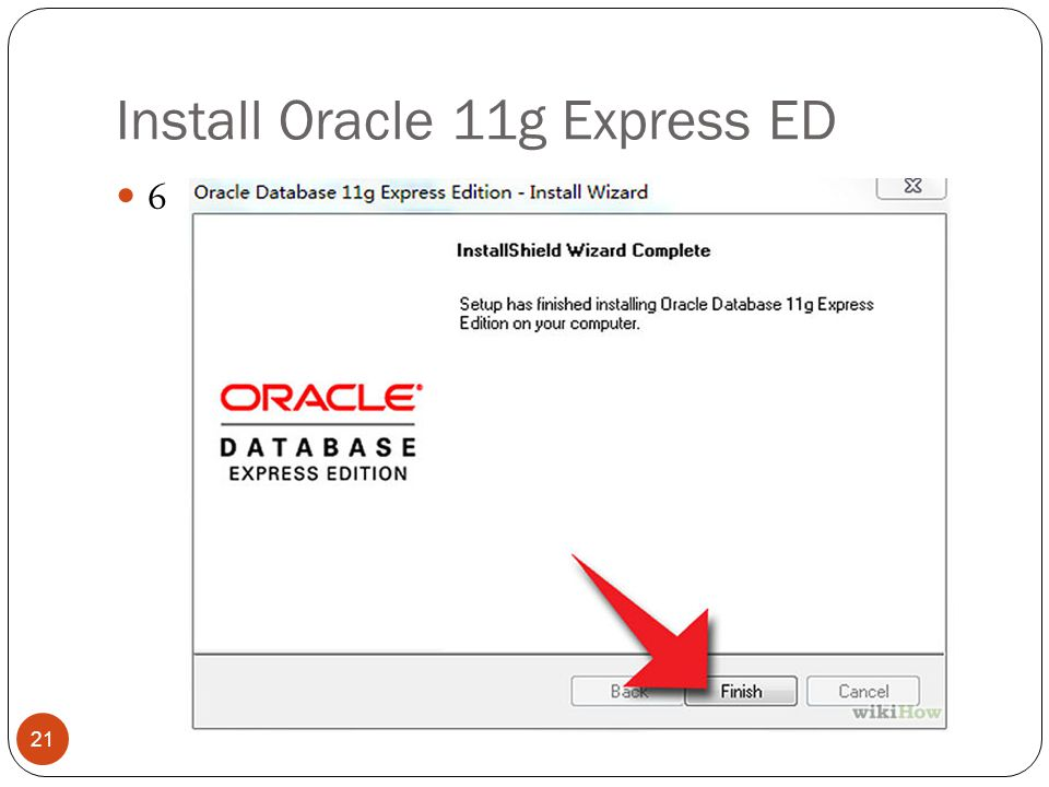 Install Oracle 11g Express ED 6 21