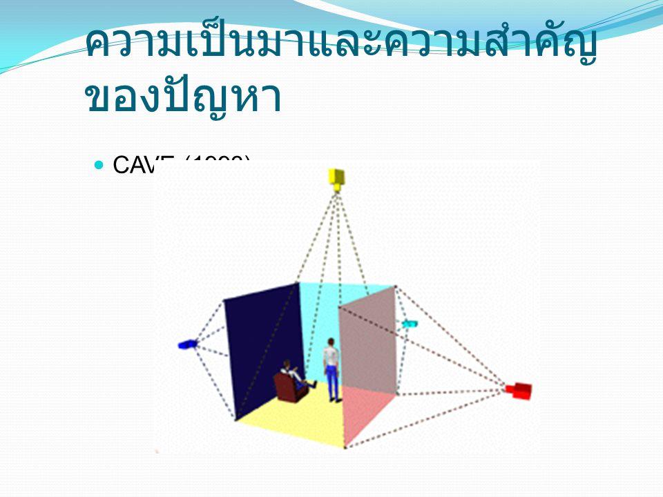 ความเป็นมาและความสำคัญ ของปัญหา CAVE (1993)