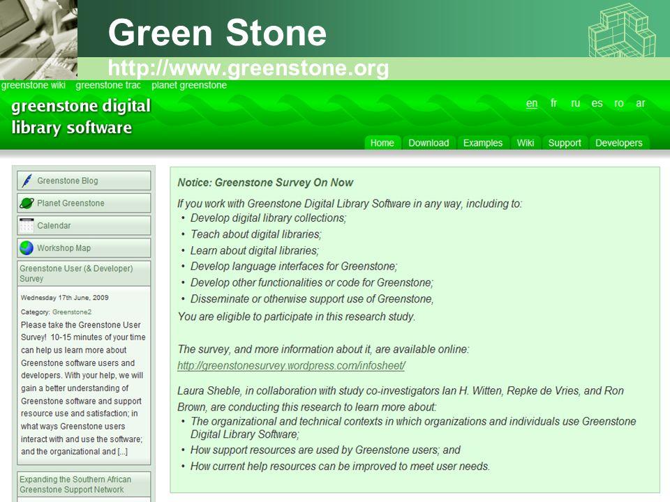 Green Stone http://www.greenstone.org