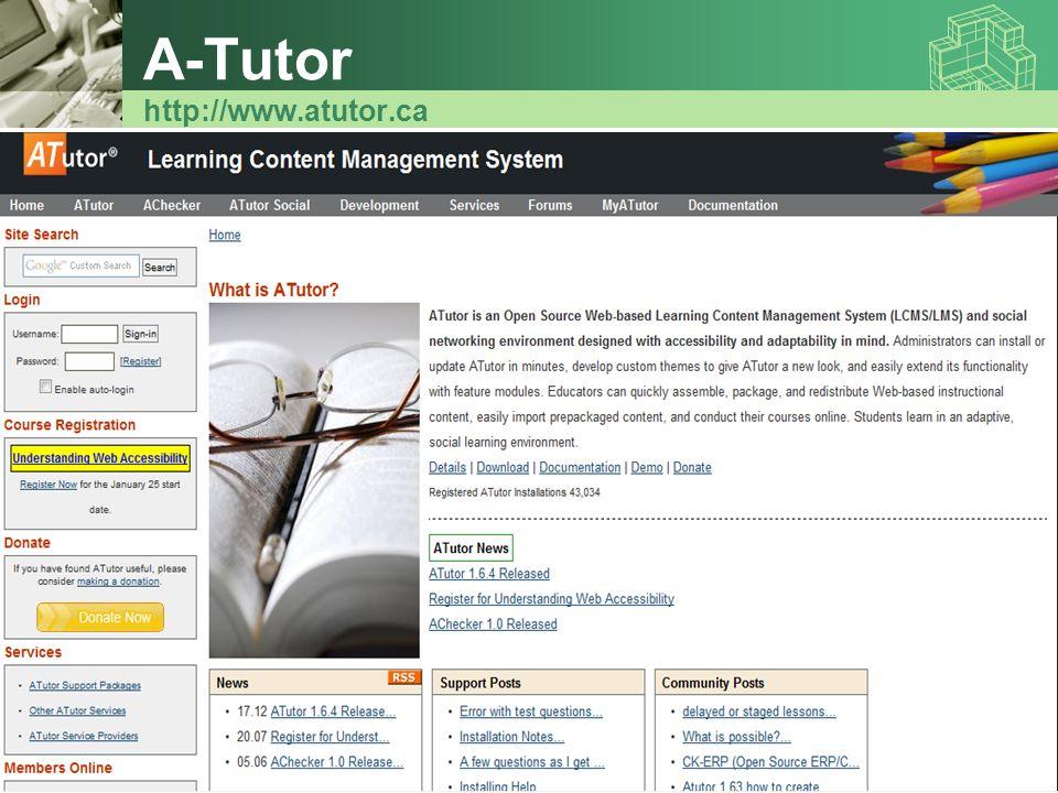 A-Tutor http://www.atutor.ca