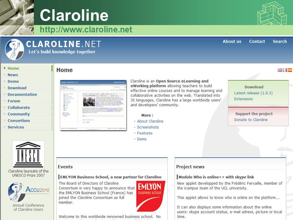 Claroline http://www.claroline.net