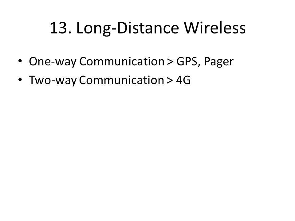 13. Long-Distance Wireless One-way Communication > GPS, Pager Two-way Communication > 4G