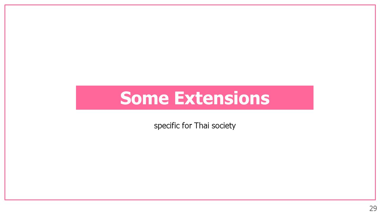 29 Some Extensions specific for Thai society
