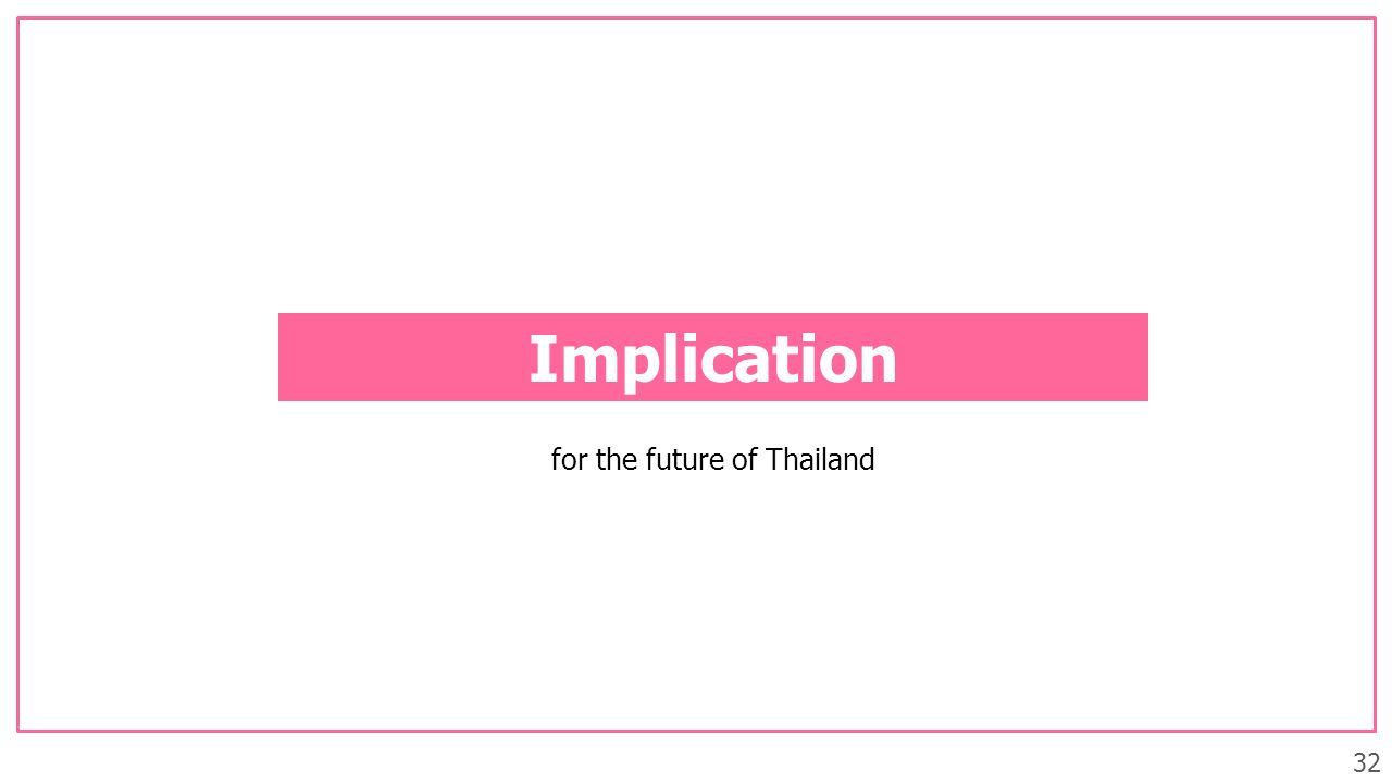 32 Implication for the future of Thailand