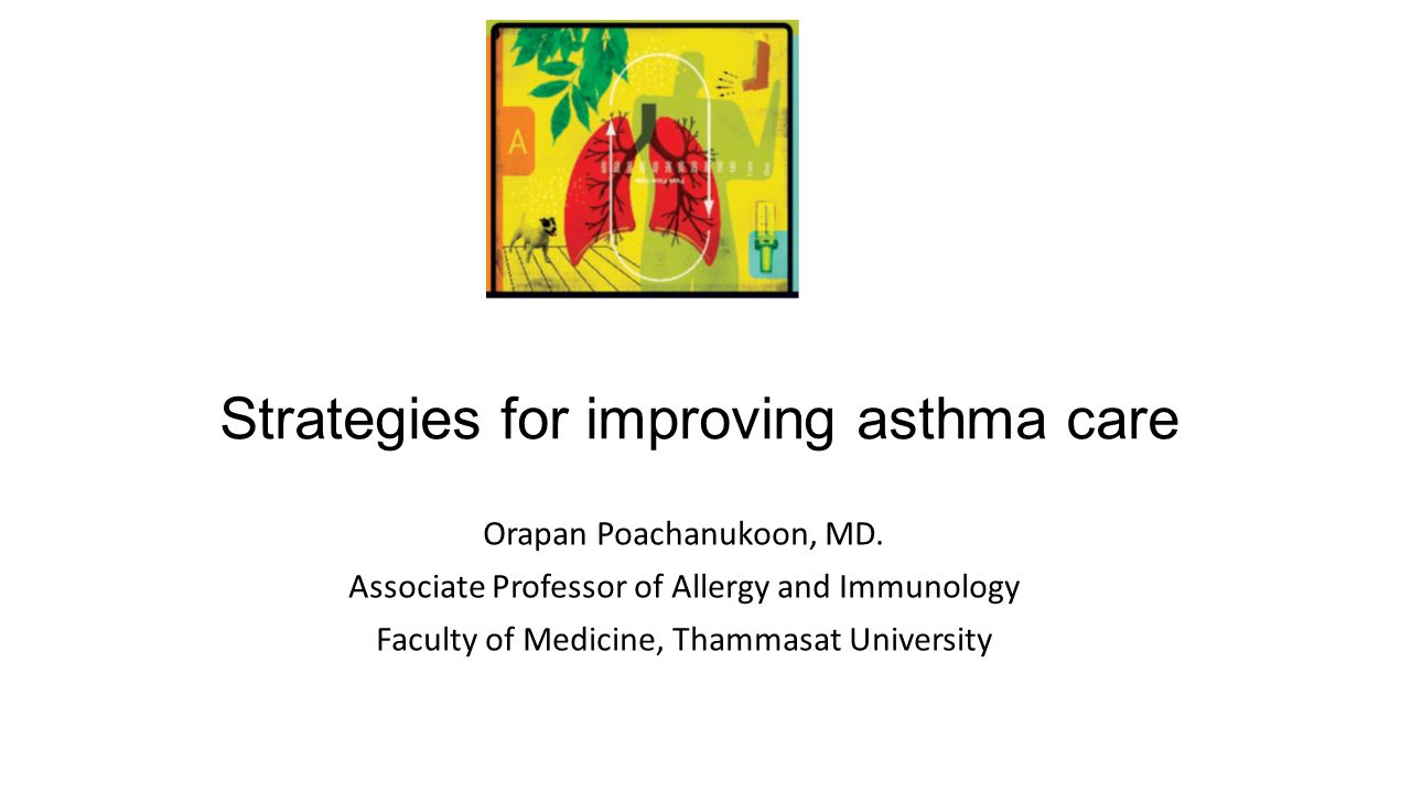 Strategies for improving asthma care Orapan Poachanukoon, MD.
