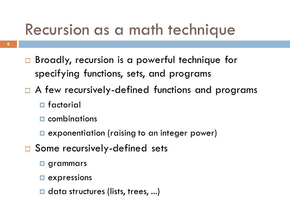 Tracing recursive Fibonacci 17 Tracing recursive Fibonacci: Note the many duplicated fib()'s.