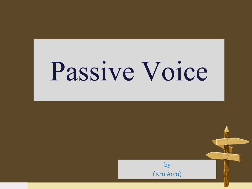 What is the difference between active voice and passive voice?