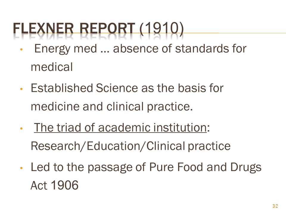 Energy med … absence of standards for medical Established Science as the basis for medicine and clinical practice.