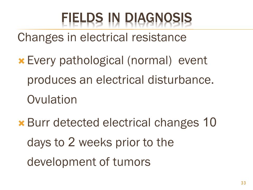 Changes in electrical resistance  Every pathological (normal) event produces an electrical disturbance.