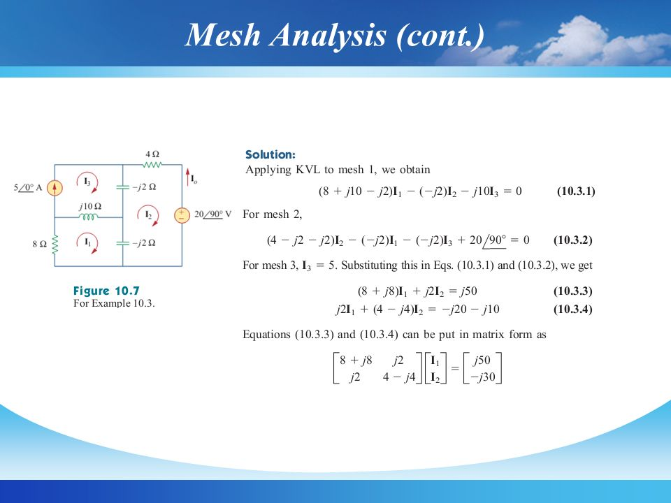 Mesh Analysis (cont.)