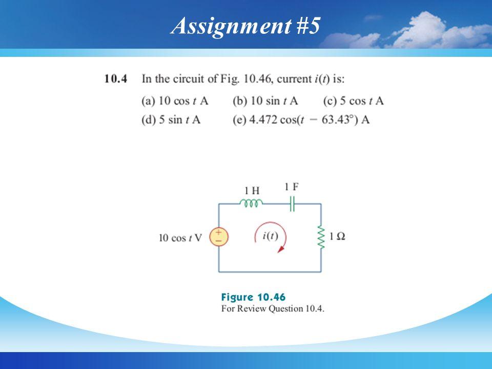 Assignment #5