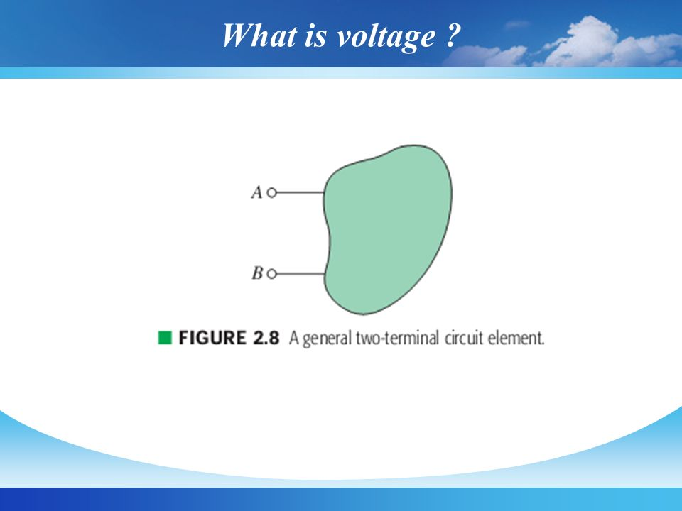 What is voltage ? (cont.)