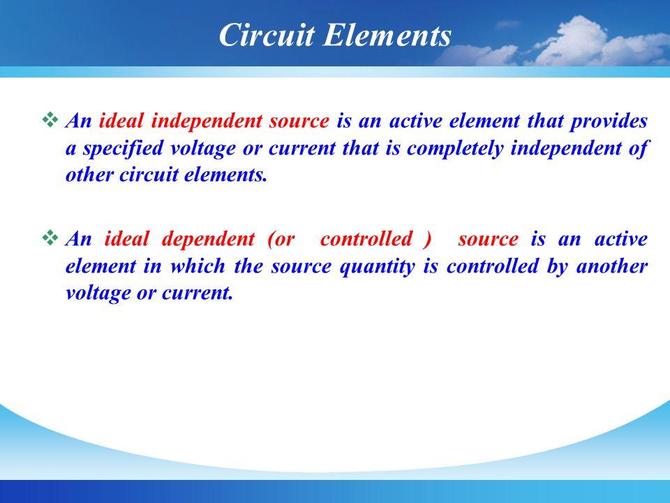 Independent Voltage Sources