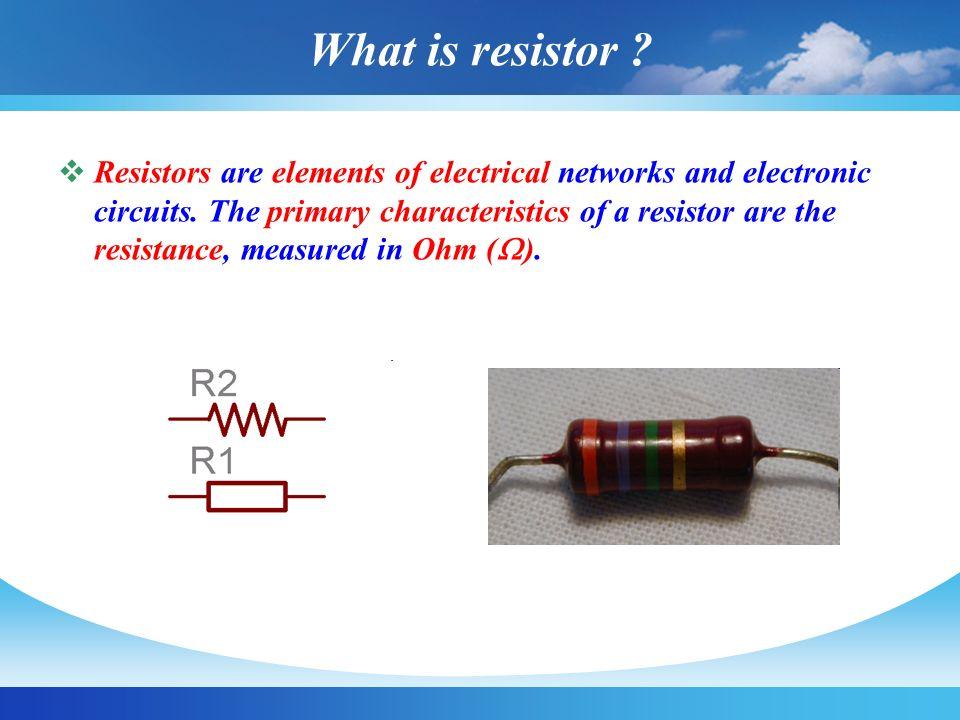 Resistor Types