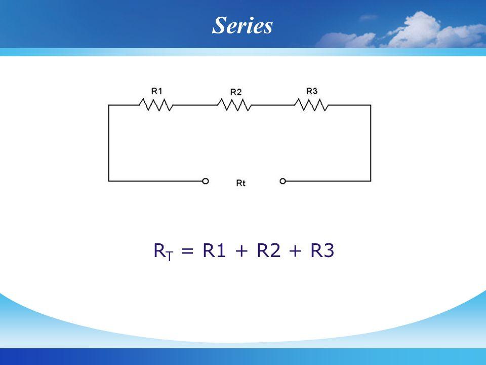 Series R T = R1 + R2 + R3