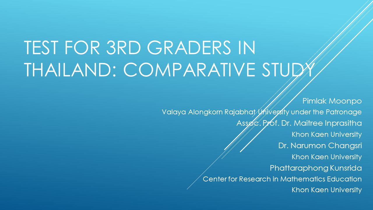 The comparative study collaboration includes the necessity to have instruments translated in Thai