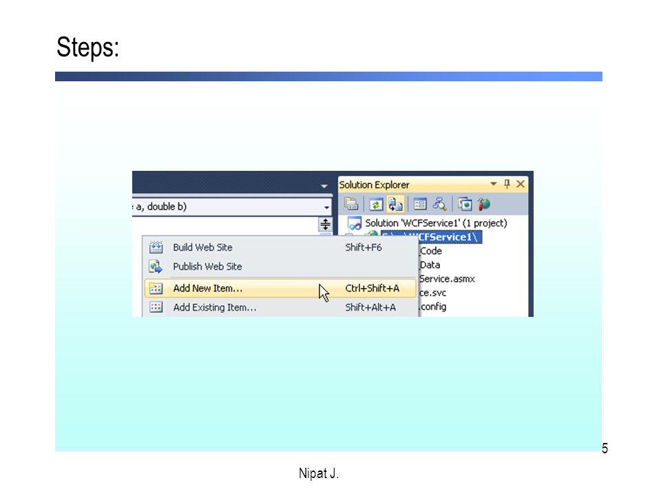 36 Steps: Nipat J. 4. เพิ่ม code ในไฟล์ TestPtt.aspx.cs ดังนี้