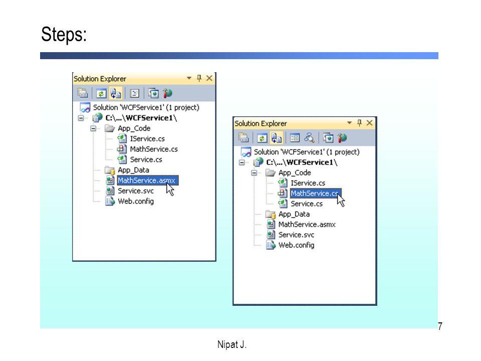 28 Exercise – การสร้างและการเรียกใช้งาน web service Nipat J.