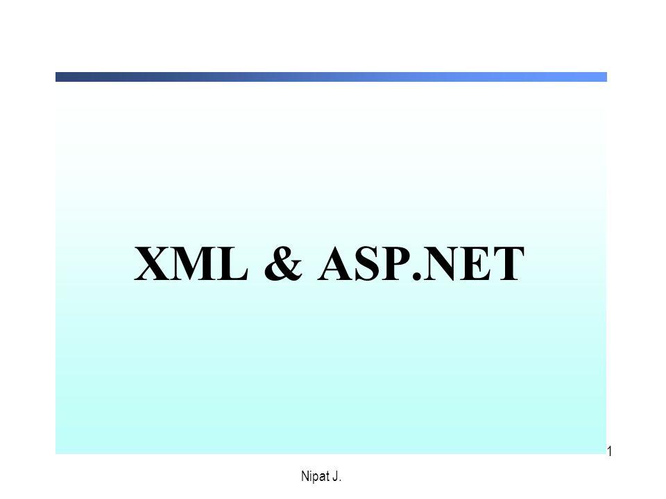 1 XML & ASP.NET Nipat J.