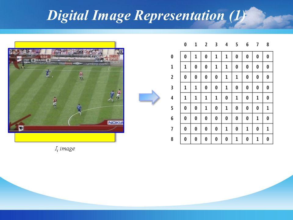 Digital Image Representation (1) N x N image