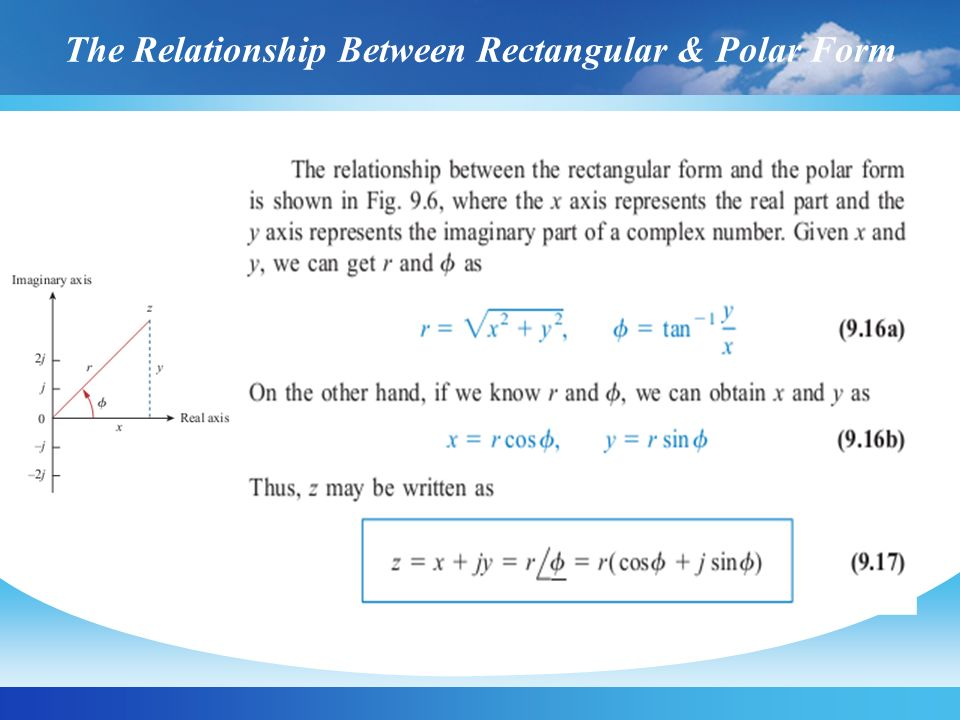 The Relationship Between Rectangular & Polar Form