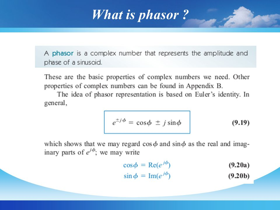 What is phasor ?
