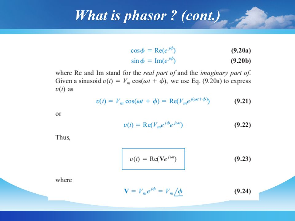 What is phasor ? (cont.)