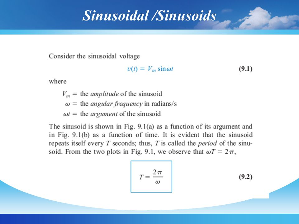 Sinusoidal /Sinusoids