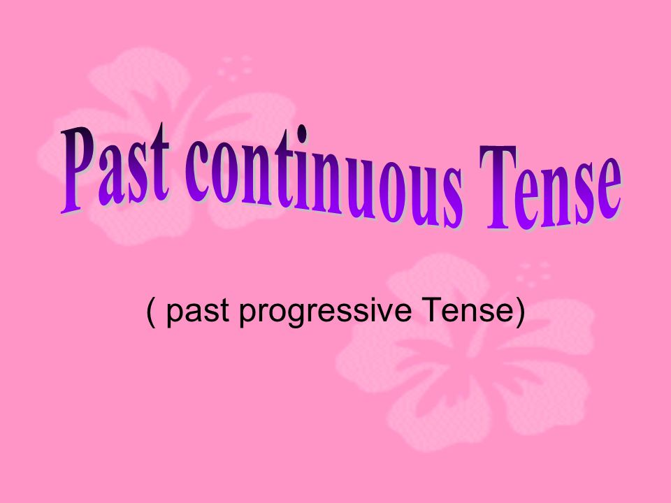( past progressive Tense)