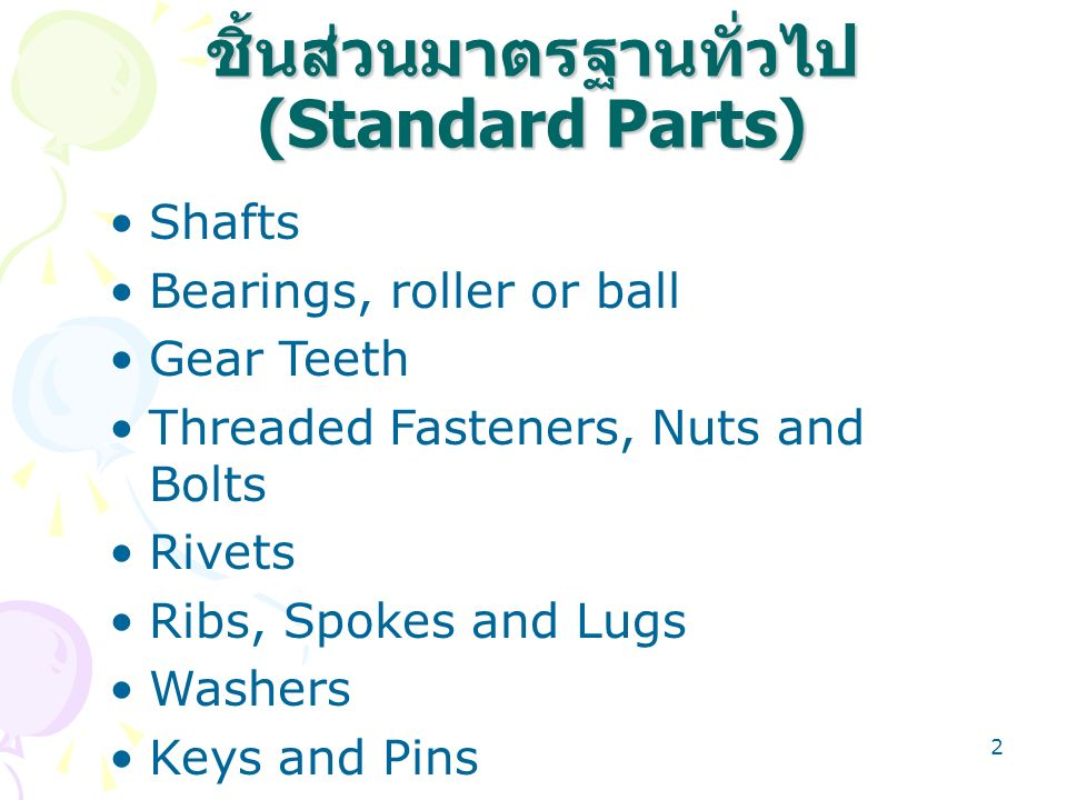 63 THREAD TYPE TYPE OR PITCH REFERS TO CONSTRUCTION OF THREAD –NUMBER OF THREADS PER INCH NATIONAL COARSE (NC OR USS) NATIONAL FINE (NF OR SAE) ALL 1/4 AND LARGER WILL BE EITHER NC OR NF 1/4 AND SMALLER USES SPECIAL DESIGNATION