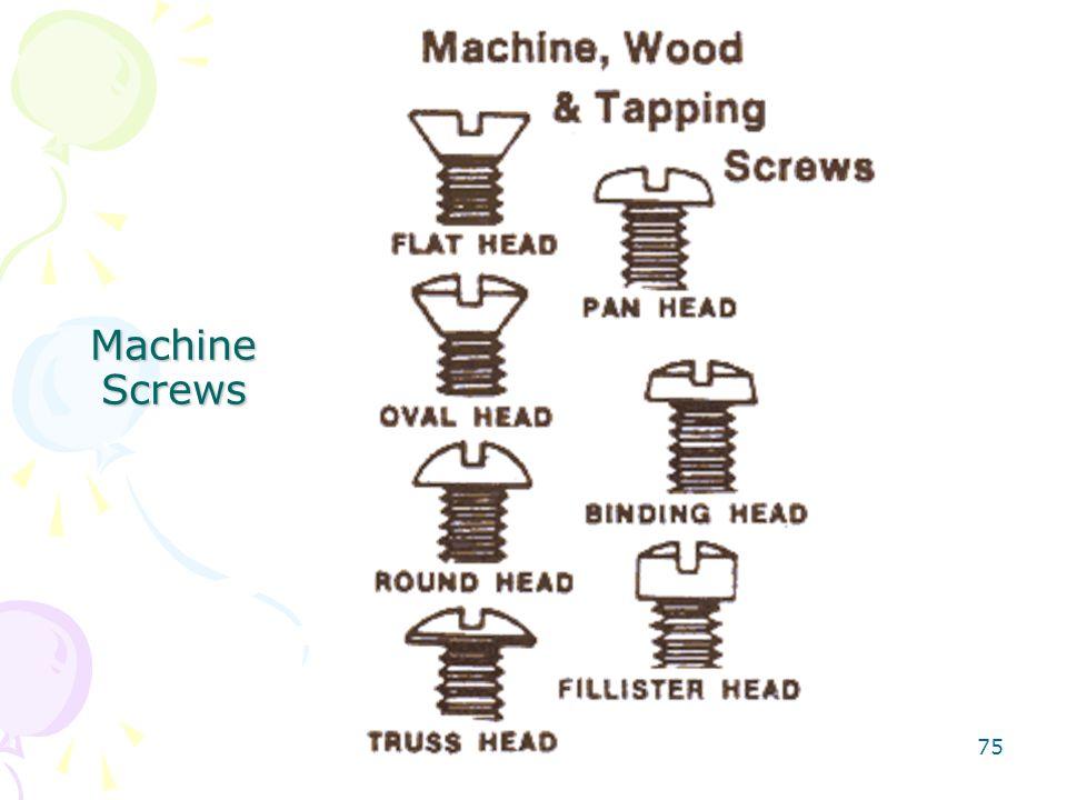 75 Machine Screws