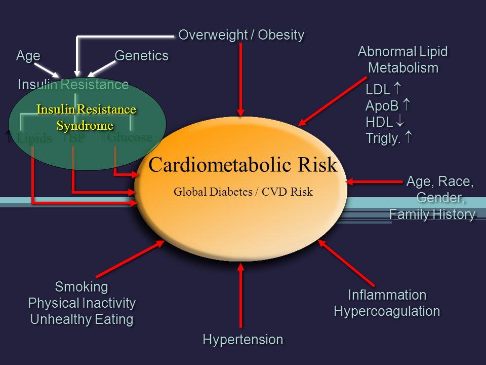 Abnormal Lipid Metabolism LDL  ApoB  HDL  Trigly.  Abnormal Lipid Metabolism LDL  ApoB  HDL  Trigly.  Cardiometabolic Risk Global Diabetes / C