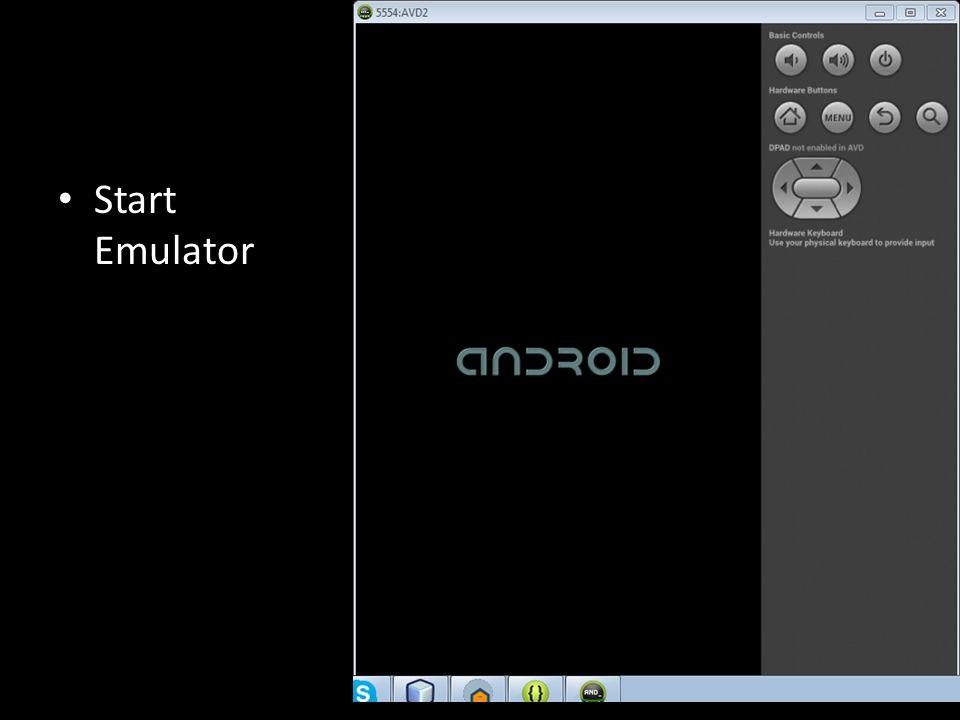 Start Emulator