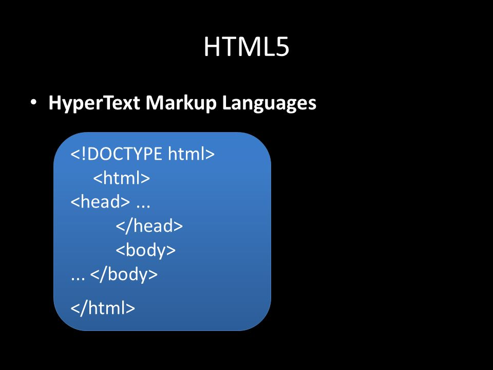 HTML5 HyperText Markup Languages......