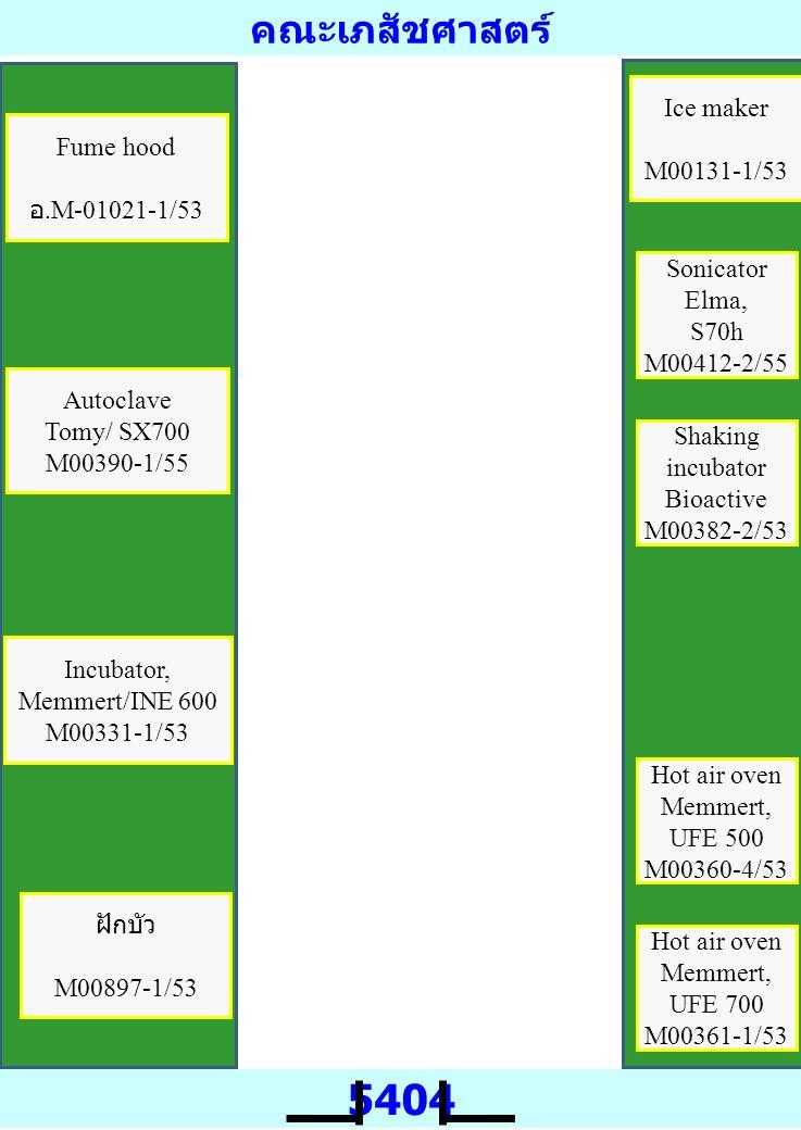 คณะเภสัชศาสตร์ 5405 Image scanner GE, Typhoon Trio M00440-1,(5-7)/54 LC-MS/MS Bruker, Amazon speed ETD M00586-(1-5)/55 LC-MS/MS Bruker, MicroTOF-QII M00602-(1-11)/55 Spot picker GE M00440-2/54 Image scannerGE, Image scanner III M00426-5/56 IEF IPGphore3 M00440-3/53 Electrophoresis GE, DALSix M00304-1/53 Sonicator Bandelin M00172-1/55 Cooling bath MultiTemp IV M00426-4/56 Electrophoresis MiniVE M00304-1/53 Power supply EPS 601 M00426-3/56 IEF IPGphore3 M00426-1/56 Notebook Dell, Inspiron 3421 M00426-7/56 Computer server Dell M00426-8/56