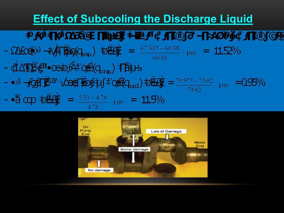 วัฏจักรที่ทำงานตามทฤษฎี (A - B - C - D) เปรียบเทียบกับวัฏจักร การทำงานจริง (A' - B' -C - D) q evap. = 60.38 Btu/lb q comp. = 12.64 Btu/lb q cond. = 73