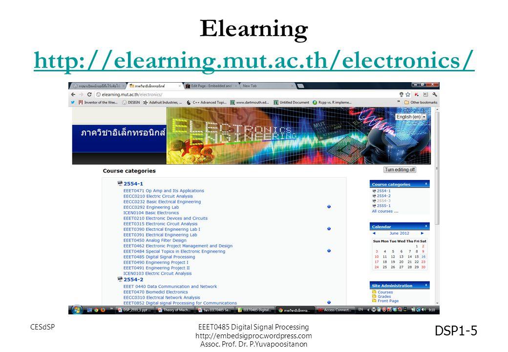 ตำรา DSP1-6 ตำราหลัก CESdSPEEET0485 Digital Signal Processing http://embedsigproc.wordpress.com Assoc.