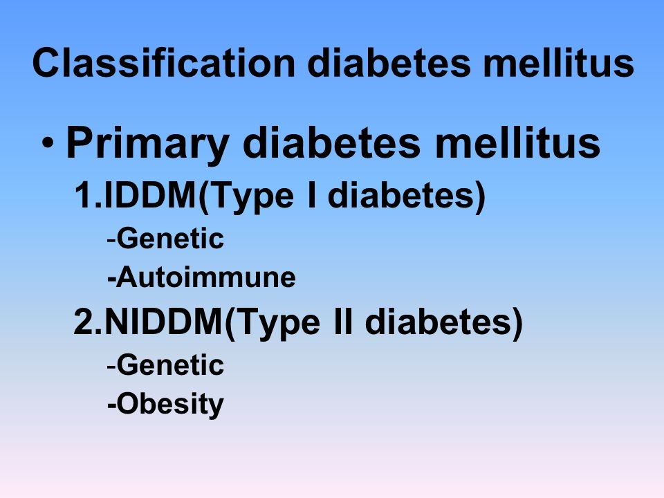 Disease progression 4.Clinical diabetes –symptomatic –Increase (FBS) –Abnormal glucose tolerance