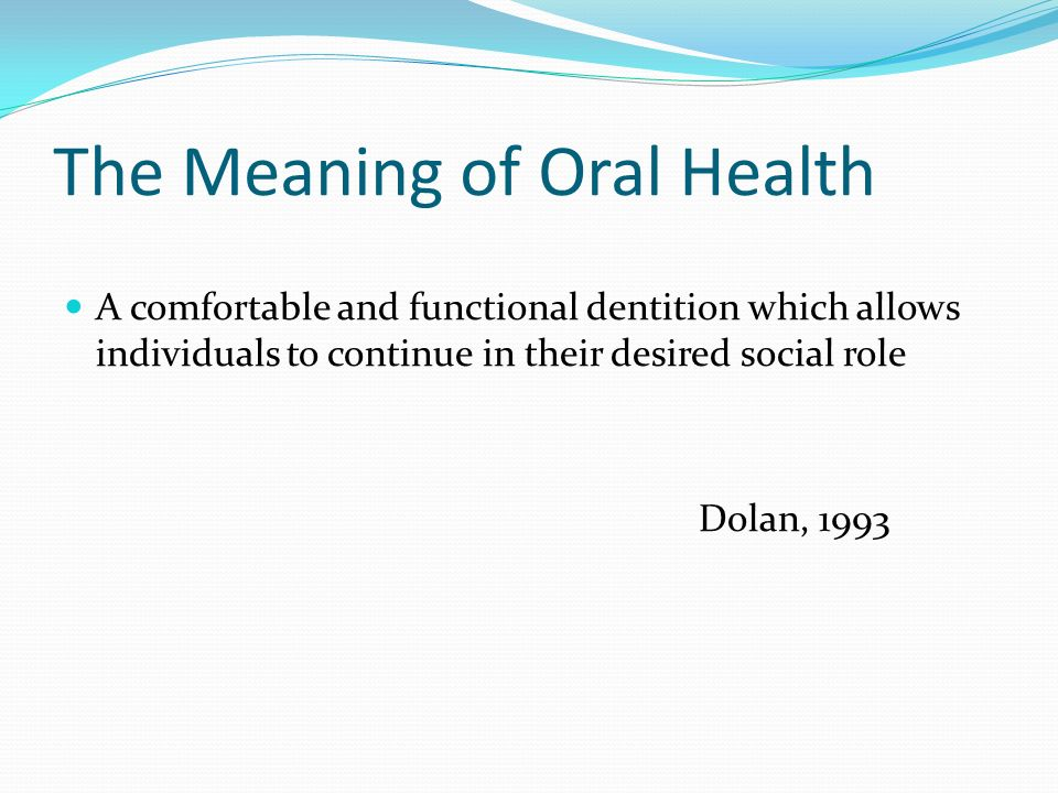 Theoretical framework of consequences of oral impacts (Locker, 1988) Disease Impairment Functional Limitation Disability Handicap Death Discomfort Disease Impairment Functional Limitation Disability Handicap Death Discomfort