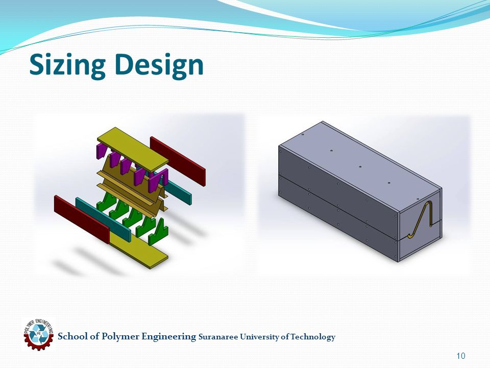 School of Polymer Engineering Suranaree University of Technology 10 Sizing Design