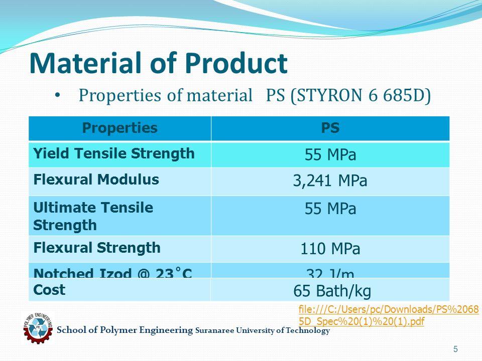 School of Polymer Engineering Suranaree University of Technology 26 Processing of Die 6.