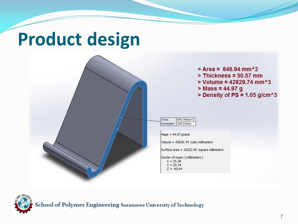 School of Polymer Engineering Suranaree University of Technology 7 Product design
