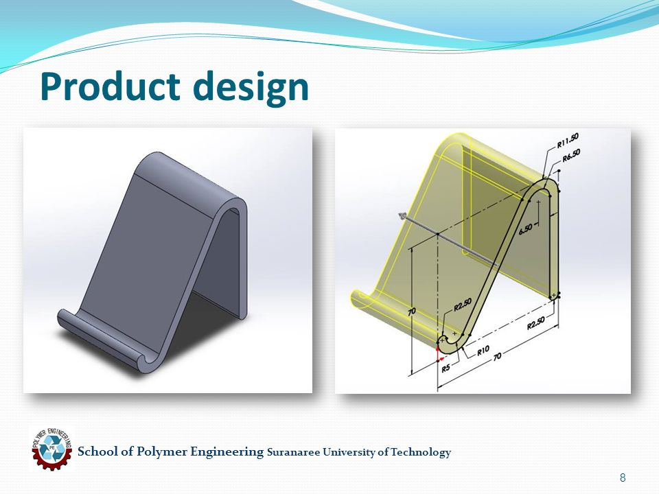 School of Polymer Engineering Suranaree University of Technology 8 Product design