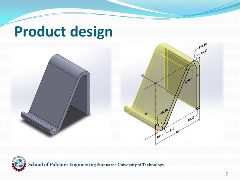 School of Polymer Engineering Suranaree University of Technology 18 Screw speed (N,rpm) D=40 mm, h= 3 mm, θ=17.6°, L= 1000 mm, Qoptimum = 10000.00 mm 3 /sec Calculation A = 6832.49 mm 3