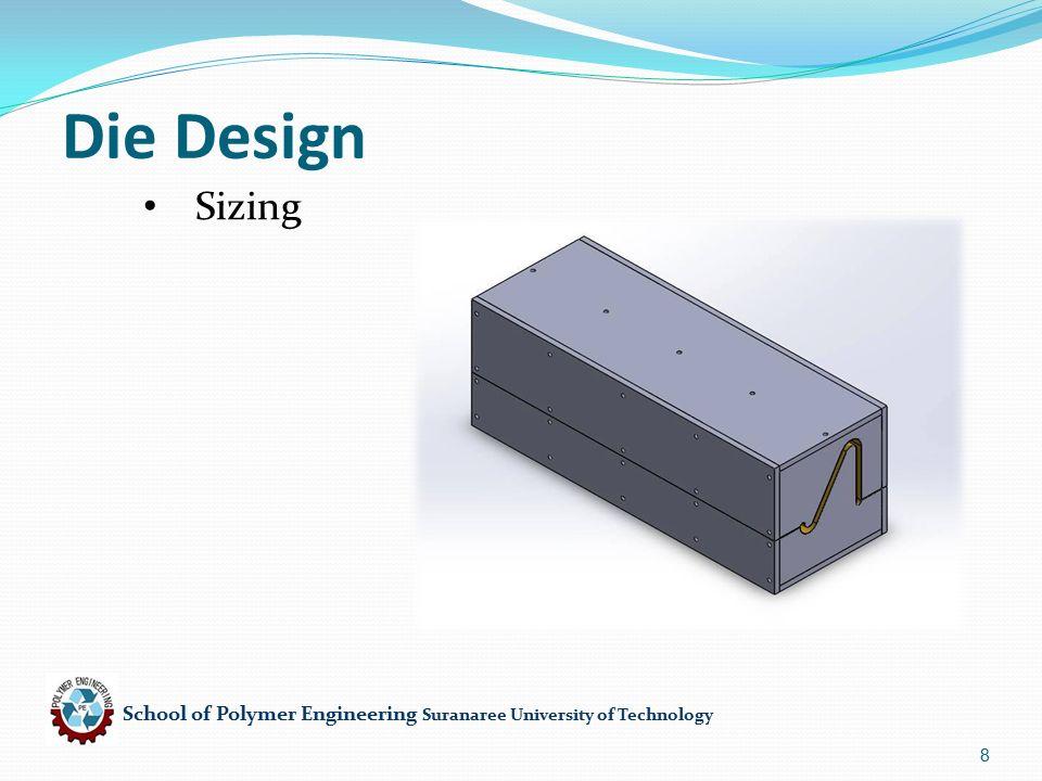 School of Polymer Engineering Suranaree University of Technology 19 Calculation จาก C = 0.03 mm 3