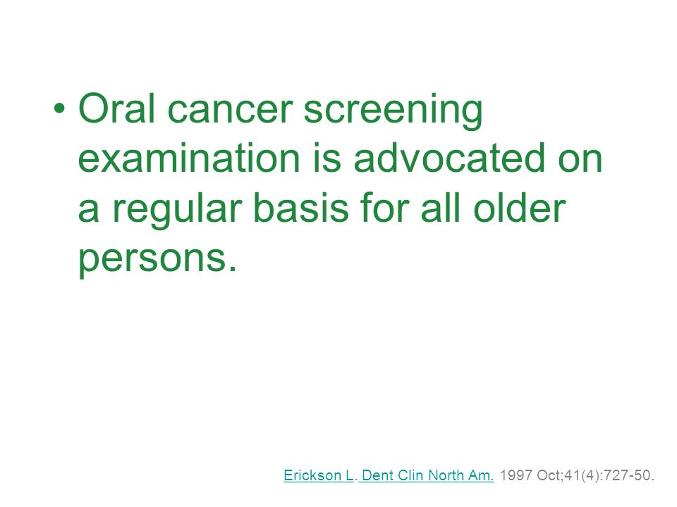 http://www.cda-adc.ca/jcda/vol- 74/issue-3/index.htmlhttp://www.cda-adc.ca/jcda/vol- 74/issue-3/index.html A special issue on oral cancer in the Journal of Canadian Dental Association (JCDA) was published in April 2008 featuring the guidelines and other informative articles.